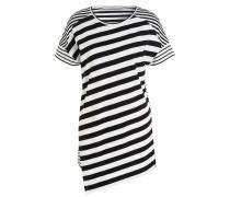 Longshirt - weiss/ schwarz gestreift