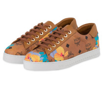 Sneaker - cognac/ orange/ blau