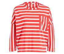 Oversized-Shirt ORIAMA - rot/ weiss