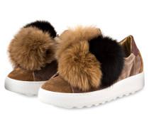 Plateau-Sneaker MADELEINE - camel/ schwarz