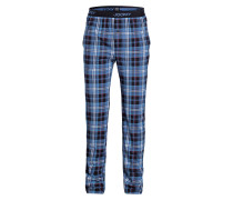 Sleep-Pants - navy/ weiss/ rot kariert
