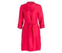 Blusenkleid mit Leinenanteil - pink