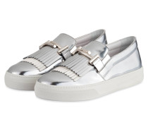 Slip-on-Sneaker - silber metallic