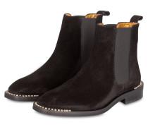 Chelsea-Boots mit Schmucksteinbesatz