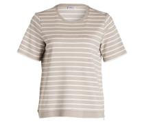 T-Shirt - hellbraun/ weiss
