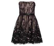 Bandeau-Kleid - schwarz/ nude