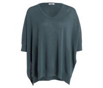 Oversized-Pullover - grün