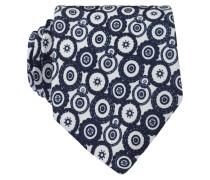 Krawatte - weiss/ navy