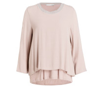 Blusenshirt - rosa/silber