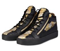 Hightop-Sneaker - SCHWARZ/ GOLD/ SILBER