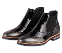Chelsea-Boots - silber / schwarz