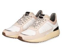 Sneaker - WEISS/ NUDE/ SILBER