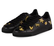 Sneaker mit Patches - schwarz/ gold