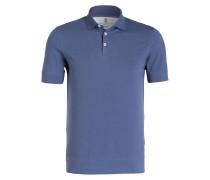 Piqué-Poloshirt - blau