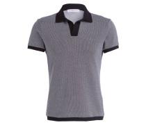 Piqué-Poloshirt FELIX - schwarz/ weiss