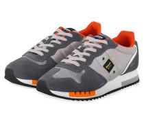Sneaker QUEENS - HELLGRAU/ GRAU/ ORANGE