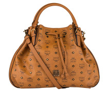 Shopper GOLD VISETOS - cognac