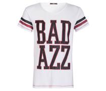 T-Shirt - offwhite/ schwarz/ rot