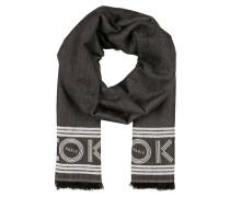 Schal - schwarz meliert