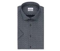 Kurzarm-Hemd Shaped Fit aus Leinen