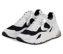Plateau-Sneaker DUMBIL - WEISS/ SCHWARZ