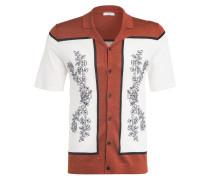 Strick-Resorthemd BRADIE Regular Fit mit Leinen
