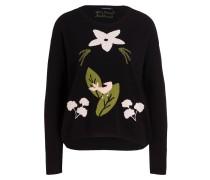 Pullover - schwarz/ grün/ hellrosa