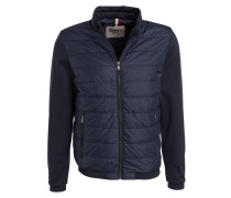 Steppjacke BRUNICO im Materialmix - blau