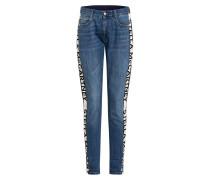 Boyfriend Jeans mit Galonstreifen