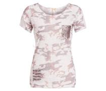 T-Shirt FREEDOM - ecru/ hellbraun/ grau