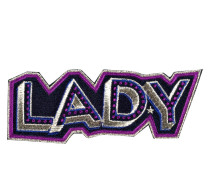 Patch LADY - navy/ violett