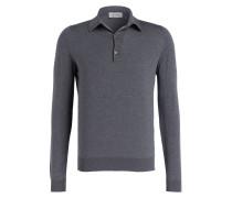 Feinstrick-Poloshirt BRADWELL - grau