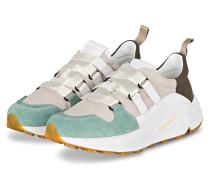 Plateau-Sneaker - BEIGE/ HELLGRÜN