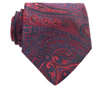 Krawatte - rot/ navy