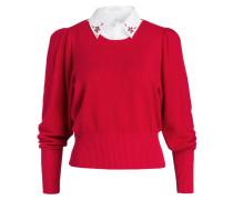 Pullover MATHYS - rot/ weiss