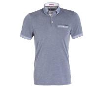 Piqué-Poloshirt SHAPIRO - blau