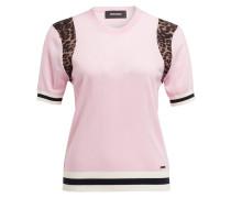 Pullover - rosa/ braun/ ecru