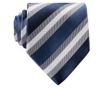 Krawatte - navy/ weiss/ grau