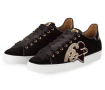 Samt-Sneaker - schwarz