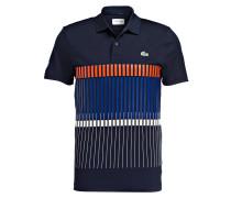 Poloshirt - marine/ orange/ weiss