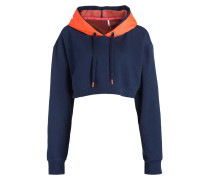 Hoodie ICON - navy/ orange