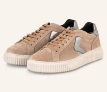 Plateau-Sneaker LIPARI - HELLBRAUN