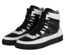 Hightop-Sneaker - schwarz/ weiß