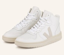 Hightop-Sneaker V-15 - WEISS