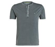 Henley-Shirt - blaugrau