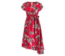 Midi-Kleid PANTONE - rot/ creme/ schwarz