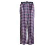 Pyjamahose - rot/ blau/ grau kariert