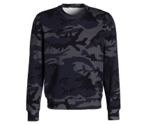 Sweatshirt - dunkelblau/ grau/ schwarz