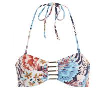 Bandeau-Bikini-Top TAHITI - blau/ rose