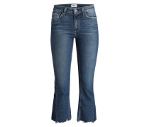 Cropped-Jeans PIECED COLETTE - blau